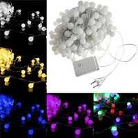 New 20m 200 LED Colourful Ball String Fairy Light Wedding Party Christmas Garden Decor