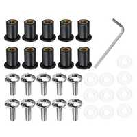 Set 5mm Motorcycle Windscreedn Screws Bolt Kits Wind Shield Stainless Steel Detail Suite