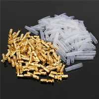 100pcs Female 3.5mm Brass Connector Terminal With Insulation Cover