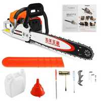 4KW Gas Gasoline Powered Chainsaw 62cc 2-stroke Gasoline Chain Saw Wood Pruning Cutting