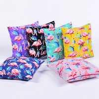 45*45 cm Flamingo Cotton Linen Cushion Cover Home Pillow Decor Soft Sofa Car Bedding Pillowcase