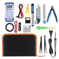 20 in 1 60W Electric Soldering Iron Kit Adjustable Temperature Welding Tools Set 110V 220V