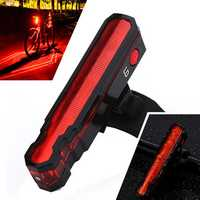XANES TL12 3528LED/LD 6 Modes USB Charging IPX5 Waterproof Spider Lasers Bike Tail Light
