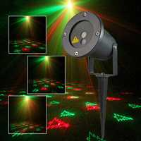 R&G Remote Christmas 12 Pattern Waterproof Laser Projector Stage Light Garden Lawn Landscape Lamp
