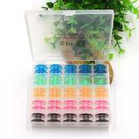 25pcs Empty Colorful Plastic Sewing Machine Bobbins Spools Brother Babylock Singer