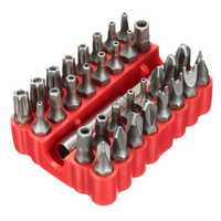 33pcs Screwdriver Bit Set Torx Spanner Star Hex Holder Rod Screwdriver Tool