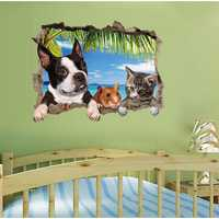 3D Animal Landscape Creative Wall Stickers Home Decor Mural Art Removable Wall Decals