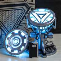 1:1 ARC REACTOR LED Chest Heart Light-up Lamp Movie ABC Props Model Kit Science Toy