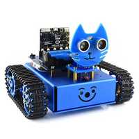 WaveShare DIY Micro:bit STEAM Smart RC Robot Car Porgrammable bluetooth Control Track Evade Obstacle