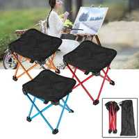 Outdoor Portable Folding Chair Picnic BBQ Aluminium Seat Stool Camping Hiking