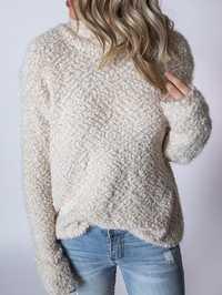 Women Casual Half Turtleneck Long Sleeve Fleece Sweaters