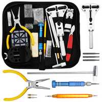 KALOAD 168PCS Precision Watch Repair Hand Tools Kit Set Spring Bar Adjustable Case Opener Forceps Link Pin Watch Band Remover