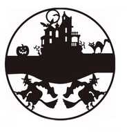 Happy Halloween Witch Castle Cat Bat Decals Window Wall Sticker Removable Party Supplies Decoration Innovative Black Carved Wall Sticker Vinyl Art Decal Decor