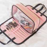 Women Removable Solid Cosmetic Storage Bag