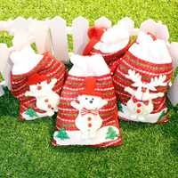 Christmas Day Stocking Packing Gift Box Cute Santa Decoration Candy Box Stocking Christmas Gift Bags 18*24cm