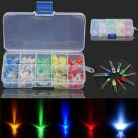 Geekcreit® 3 x 375pcs Each Box 3MM 5MM LED Light Emitting Diode Beads Resistance Lights Kits Bulb Lamp
