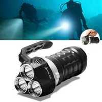 Thorfire Scuba Diving Flashlight 2000 Lumen IPX8 Waterproof Underwater 230ft USB Rechargeable Flashlight