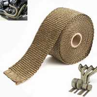 5M Exhaust Heat Wrap Manifold Downpipe High Temp Insulation Bandage Tape Roll