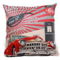 45x45cm Micro-velboa Vintage Car Pillow Case Throw Cushion Cover Home Decor