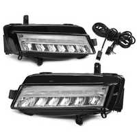 Pair LED DRL Daytime Running Lights Fog Lamp White for VW Golf 7 MK7 2013-2017