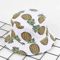 Women Summer Causal Fruit Printed Fisherman Hats