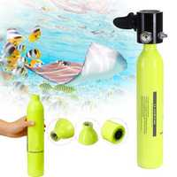0.5L Oxygen Spare Scuba Air Tank Underwater Mini Cylinder Breathing Bottle Diving Equipment
