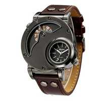 OULM 9591 Casual Style Dual Time Zones Creative Wrist Watch