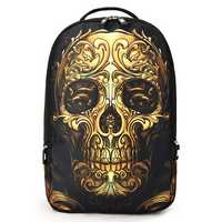 Men Women Outdoor Travel Skull Pattern Polyester Multifunctional Shoulders Bag Backpack