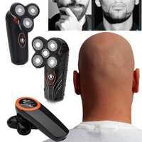 Rotary 4D Shaver Razor Electric Men Cordless Beard Trimmer Electric Head Shaver Beard Trimmer Bald Eagle Hair Clipper Silicone Facial Clean