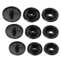 1000PCS T3/T5/T8 Black Resin Fasteners Clip Snap Buttons For Cloth Diaper Craft