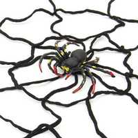 Halloween Party Decoration Supply Black Spider Web With Spider Honor Props Toys