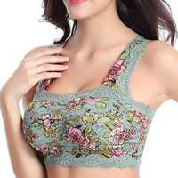 Floral Printed Wireless Wrapped Chest Bando Bra