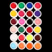 24 Colors Pure Manicure Nail Art UV Gel Builder Manicure Decoration Set