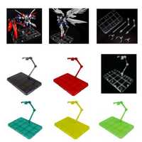 HG 1/144 Action Figure Stand Base Holder Fit For RG SD Robot SHF Tamashii Models Decorations