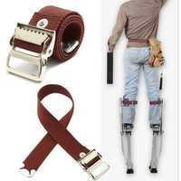 Stilts Straps Drywall Leg Band Straps Kit Hook And Loop Canvas Woven Brown
