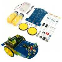 DIY Smart Tracking Robot Car Electronic Kit With Reduction Motor Set