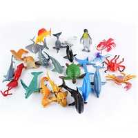 24PCS Plastic Ocean Animals Figure Sea Dolphin Turtle Creatures Model Toys Gift