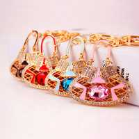 Honana DX-02 Creative Exquisite Bag Crystal Car Key Chain Trendy Handbag Pendant Bag Buckle