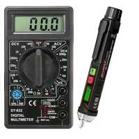 DT832 Digital LCD Multimeter+Winpeak ET8900 Non-contact Voltage Tester Pen Big Clearance
