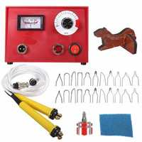 50W Multifunction Pyrography Machine + 2pcs Pen for Gourd Wood Crafts Tool Kit Set