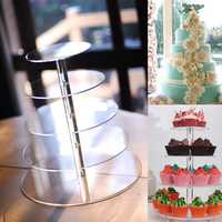 5 Tier Acrylic Cupcake Cake Stand Party Wedding Birthday Cake Tower Display Holder Decorations