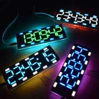 Geekcreit® DIY 6 Digit LED Large Screen Two-Color Digital Tube Desktop Clock Kit Touch Control