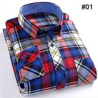 Mens Spring Fashion Retro Grid Long Sleeve Turn-down Collar Casual Dress Shirt