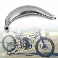 Chrome Muffler Exhaust Pipe For 80cc 66cc 49cc Motorized Bicycle Engine Bike Cycling Accessories