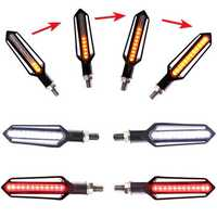 4x Sequential Flowing 24 LED Turn Signal Indicator + White DRL + Red brake Lights