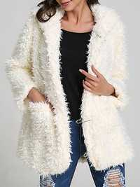 Women Noble Fall Winter Warm Hooded Furry Coat
