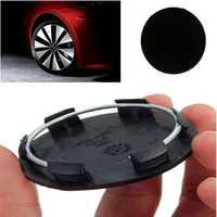 50mm Black Car Wheels Centre Blank Cap Hubcap Covers No Logo