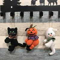 Halloween Pumpkin Cat Ghost Doll Cloth Plush Toy Club Home Exquisite Decor Gift