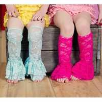 Baby Girls Lace Leg Warmers Leggings Socks Summer Toddler Rompers Thin Rose