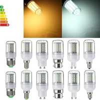 Dimmable E27 E14 E12 B22 GU10 G9 SMD4014 4W LED Corn Bulb Light Lamp AC110V
